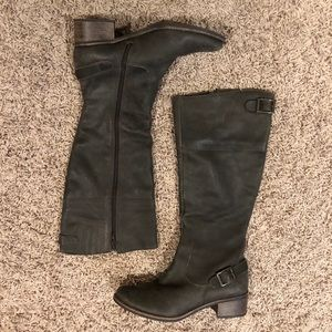 Matisse Grey/Brown Leather Boots - Size 8